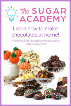 Learn how to make chocolates at home. Video lessons taught by a professional chocolatier at The Sugar Academy.