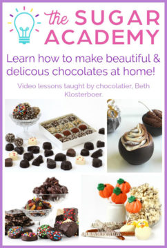 Learn how to make beautiful and delicious chocolates at home with The Sugar Academy Chocolate Making Course